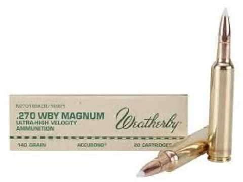 Mun. Metálica Weatherby .270 WTBY. MAG. Accubond/140gr