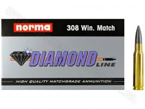 Mun. Metálica Norma .308 WIN  Match Diamond/168gr