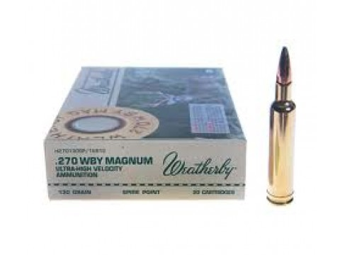 270 Wtby Mag Weatherby SP/130Gr