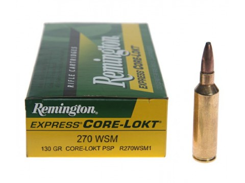 270 WSM Remington Core Lokt PSP/130Gr