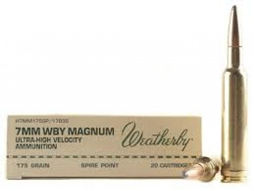 7mm Wtby Mag Weatherby SP/175Gr