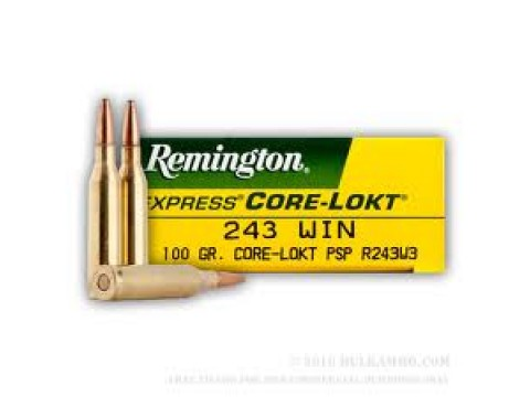 243 WIN Remington Core Lokt PSP/100Gr