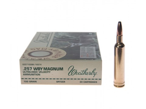 257 Wtby Mag Weatherby SPITZER/100Gr
