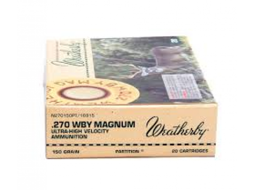270 Wtby Mag Weatherby Nosler Partition/150gr