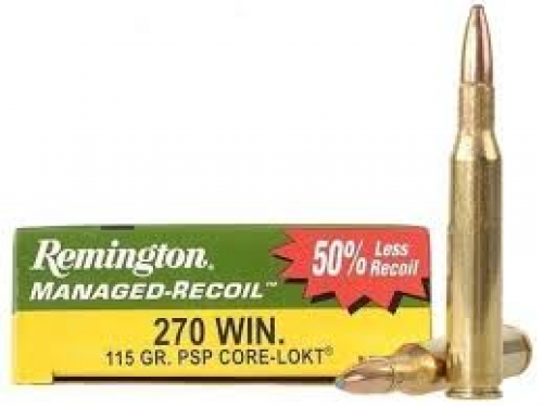 270 WIN Remington Managed Recoil/115Gr