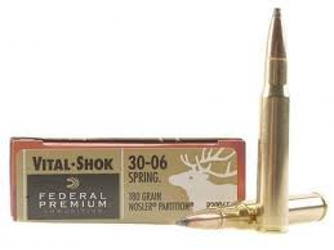 30-06 Federal Premium Nosler Partition/180Gr