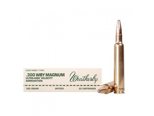 300 Wtby Mag Weatherby SPITZER/180Gr