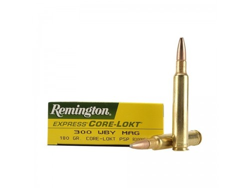 300 Wtby Mag Remington Core Lokt PSP/180Gr